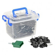 Изолатор пръстен - 100 бр + устройство за пробиване на резби