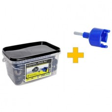 Изолатор пръстен - 150 бр + устройство за пробиване на резби