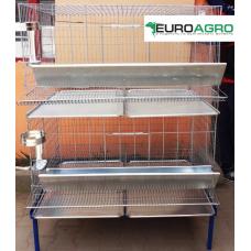 Модулна система с 2 нива клетки за кокошки носачки - 100x75x45 cm - Euroagro