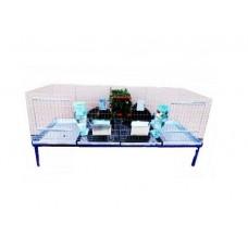 Клетка за зайци с две отделения - 160x60x50 cm - Euroagro