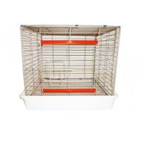 Малка клетка за домашни любимци с пластмасово дъно - 50x55x50 cm - Euroagro