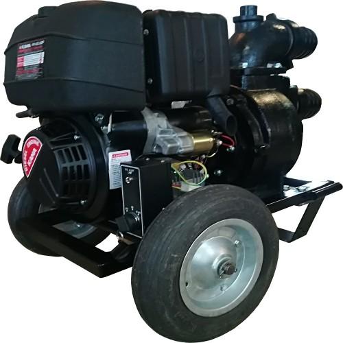 Дизелова моторна помпа KAMA 535 куб. м., 12 к.с., 96 м3/ч, 4 бара налягане, 100мм диам.