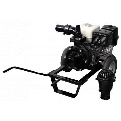 Бензинова моторна помпа Honda 390 куб. м., 13 к.с., 66 м3/ч, 7.5 бара налягане, 100мм диам.