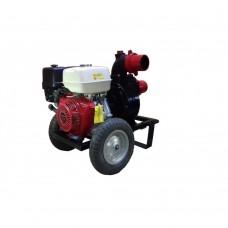 Професионална бензинова моторна помпа за отпадни води GARDELINA с двигател HONDA (GX 390 OHV)