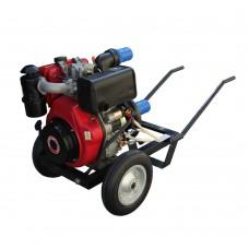 Професионална дизелова моторна помпа за вода GARDELINA с двигател KAMA (KD186 FA) със защитен панел