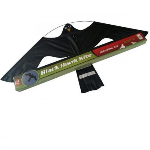 Комплект плашило тип хвърчило BLACK HAWK KITE 1,40 m x 0,80 m и телескопична стойка от алуминий 13,5 м