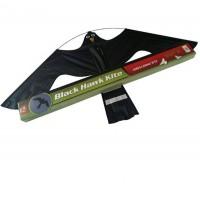 Комплект плашило тип хвърчило BLACK HAWK KITE 1,40 m x 0,80 m и телескопична стойка от алуминий 8,5 м