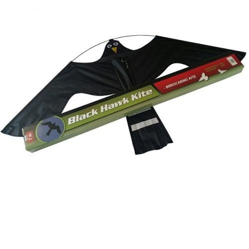 Комплект плашило тип хвърчило Черен ястреб BLACK HAWK KITE 1,40 m x 0,80 m с телескопична основа 7 m