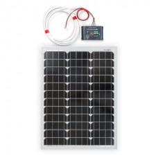 50W Монокристален соларен панел с регулатор на зареждането