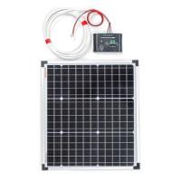 30W Монокристален соларен панел с регулатор на зареждането