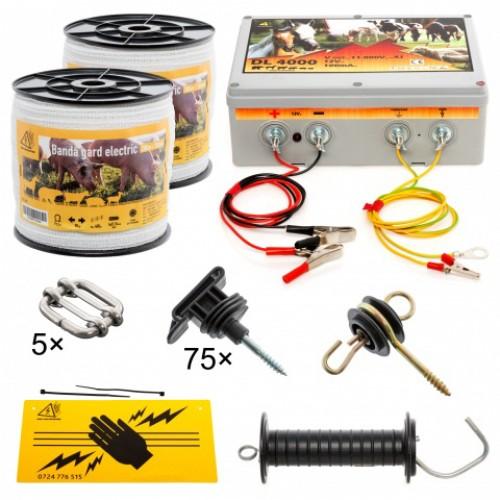 Комплект електропастир - 400 м електрическа лента - 90 кг. якост на опъна