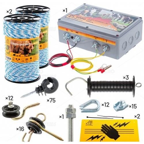 Комплект електропастир за пчелари против мечки и други големи животни - 200 м